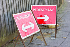 Pedestrian signs Royalty Free Stock Image