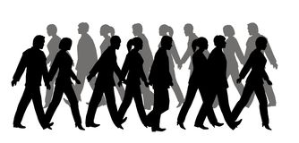 Pedestrian silhouette Royalty Free Stock Photography