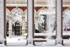 Pedestrian and Snow Royalty Free Stock Photos
