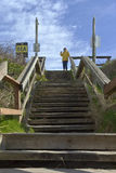 Pedestrian stairway to the beach. Stock Photography