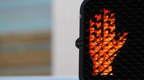 Pedestrian Stop Signal Stock Images