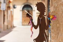 Pedestrian street in Arta, Mallorca Royalty Free Stock Photo