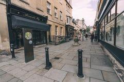 Pedestrian street in Bath Stock Images