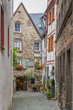 Pedestrian street in Beilstein on river Mosel, Germany Royalty Free Stock Photo