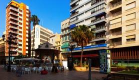 Pedestrian street at Castellon de la Plana Royalty Free Stock Image