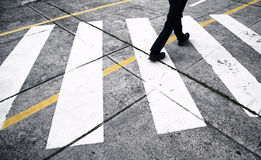 Pedestrian street crossing Stock Photography
