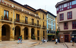 Pedestrian street at historical part of Oviedo Royalty Free Stock Photo