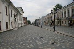 Pedestrian street in Kirov. Kirov, Russia - July 29, 2011. Pedestrian street in Kirov Royalty Free Stock Photography
