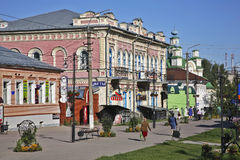 Pedestrian street in Kungur. Perm Krai. Russia Royalty Free Stock Images