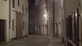 Pedestrian Street at Night stock video
