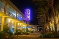 Camana Bay-Cinema Neon Sign royalty free stock photos