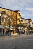 Pedestrian street in Ohrid. Macedonia Royalty Free Stock Photos