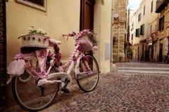 Old town of Alghero, Sardinia, Italy Stock Image