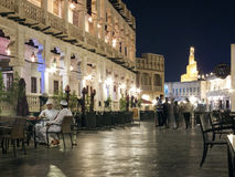 Pedestrian street in old town of doha in qatar Royalty Free Stock Images