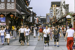 Pedestrian street stock photography