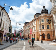 Pedestrian street in Sibiu | Romania Royalty Free Stock Photography