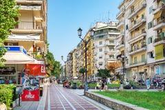 Pedestrian street, Thessaloniki, Macedonia, Greece Royalty Free Stock Photos