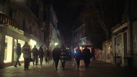 Pedestrian Street in Venice, Italy stock video footage