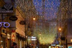 Pedestrian street in Vienna Stock Image