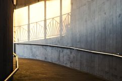 Pedestrian subway lit in sunset light Stock Image
