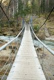 Pedestrian suspension bridge Royalty Free Stock Photography