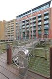 Pedestrian Suspension Bridge Stock Image
