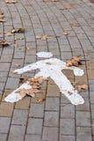 Pedestrian symbol Stock Images