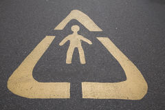 Pedestrian Symbol Sign Stock Image
