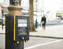Pedestrian traffic light button Royalty Free Stock Photo