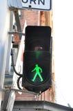 Pedestrian traffic light. Pedestrian crossing light - crossing road sign Royalty Free Stock Photography
