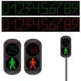Pedestrian Traffic light. Led backlight. Royalty Free Stock Photography