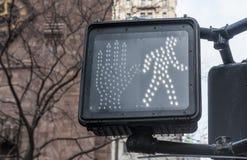 Pedestrian traffic light. In New York Stock Photography