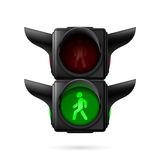 Pedestrian traffic light Royalty Free Stock Photography