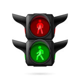 Pedestrian traffic light Stock Image