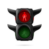 Pedestrian traffic light Stock Images