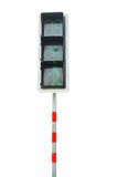 Pedestrian traffic lights. Red and green walk sig Royalty Free Stock Photography