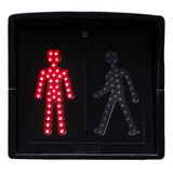 Pedestrian traffic lights Royalty Free Stock Image