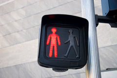 Pedestrian traffic lights. Closeup view Stock Images