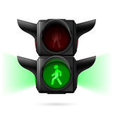 Pedestrian traffic lights Royalty Free Stock Photos