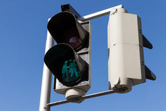 Pedestrian traffic lights in Vienna, Austria Royalty Free Stock Photos