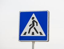 Pedestrian transit traffic sign Stock Images
