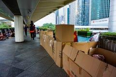 Pedestrian transition, HONG KONG, CHINA stock images