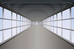 Pedestrian tunnel. Pedestrian long tunnel bridge stock illustration