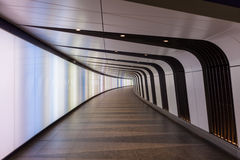 Pedestrian tunnel with integrated light-wall opens at King's Cross Stock Images