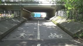 Pedestrian tunnel.  stock video