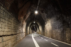 Pedestrian tunnel linking Levanto to Bonasolla, Cinque Terre, Italy Royalty Free Stock Photography