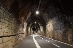 Pedestrian tunnel linking Levanto to Bonasolla, Cinque Terre, Italy Royalty Free Stock Photography