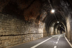 Pedestrian tunnel linking Levanto to Bonasolla, Cinque Terre, Italy Stock Photography