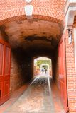 Pedestrian tunnel in Philadelphia Pennsylvania royalty free stock photos