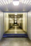 Pedestrian tunnel of steel Stock Photo